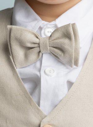 cravate et noeud papillon beige