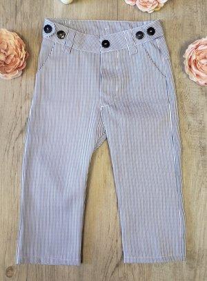 Pantalon pour petit garçon bébé rayé blanc bleu