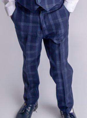 Pantalon bleu marine habillé pour garçon écossais