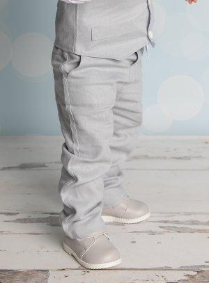 Pantalon en lin gris bébé et petit garçon Pierre