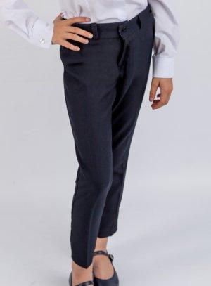 Pantalon enfant fille bleu marine pour s'habiller classe