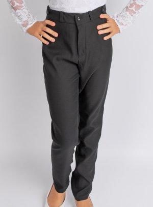 Pantalon fille taille haute noir pour soirée habillée ou uniforme scolaire