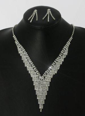 parure collier boucle d'oreilles bijoux de soirée