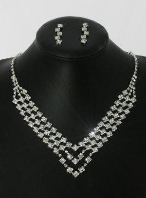 bijoux fantaisie pour mariée strass argenté