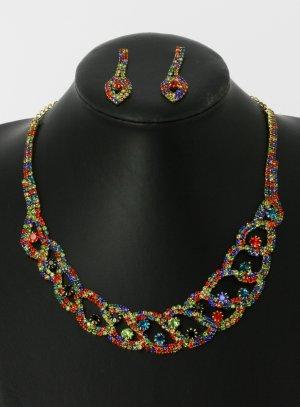 parure multicolore bijoux soirée pas cher