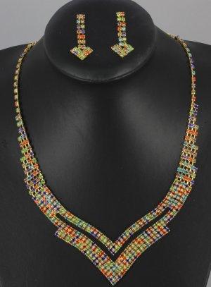 bijoux de soirée multicolor