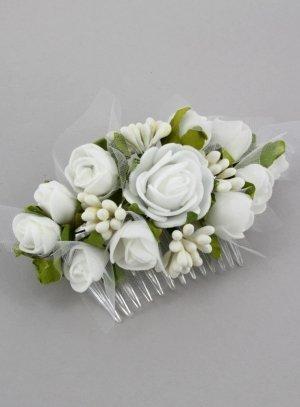 peigne cheveux pour coiffure de mariée ou chignon mariage avec fleurs