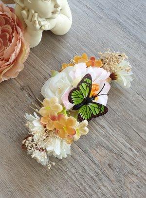 peigne cheveux papillon coiffure mariage champêtre