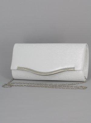 pochette de soirée bandoulière blanche