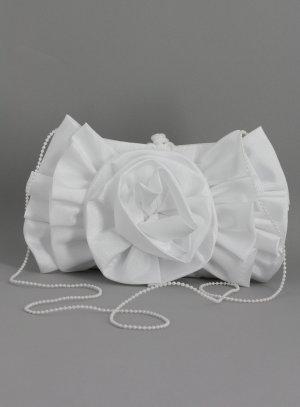 pochette mariage, sac de mariée blanc
