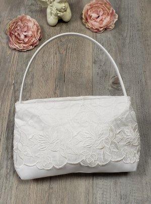sac à main mariage ivoire avec dentelle
