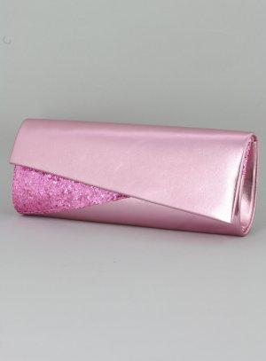 sac pochette soirée paillette rose