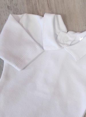 body blanc bébé garçon avec col manches courtes