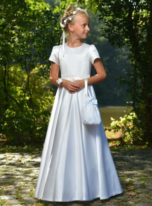 robe premiere communion simple blanche