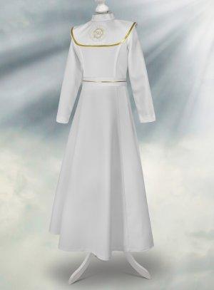 Robe aube communion cape ruban et ceinture