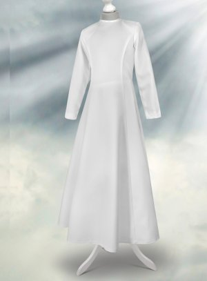 Robe aube communion manches longues collection Création