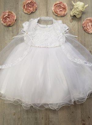robe baptême avec cape bébé fille