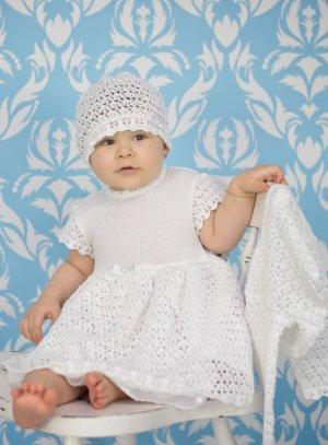 robe crochet bapteme bébé fille blanche