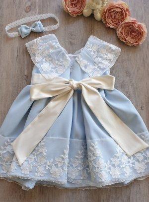 robe bébé 0 - 3 ans bleu ciel