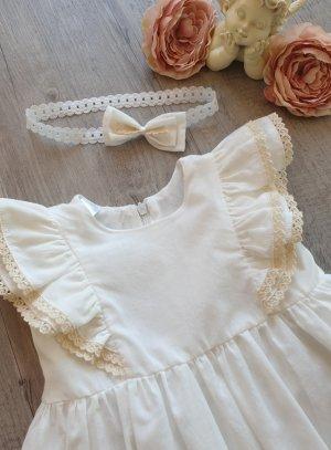 Robe cérémonie bébé coton ivoiire