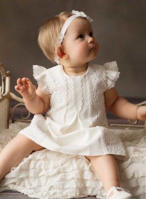 Robe cérémonie bébé fille crochet Manon