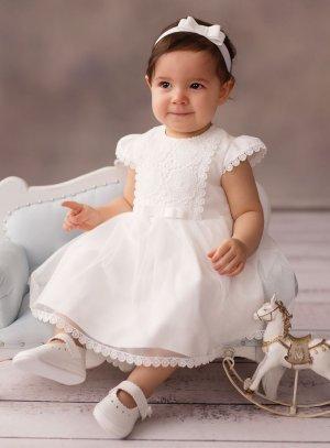 Robe Cérémonie bébé baptême avec dentelle