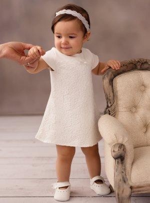 Robe baptême ou cérémonie bébé avec dentelle et crochet