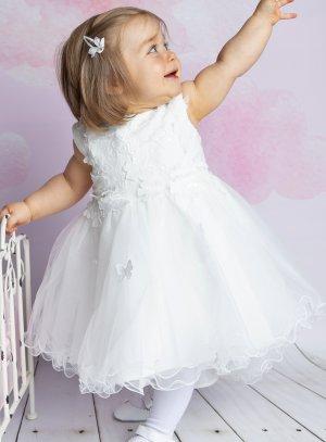 robe cérémonie bébé papillon ivoire