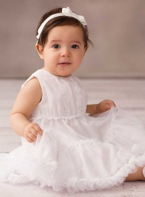 robe de baptême blanc