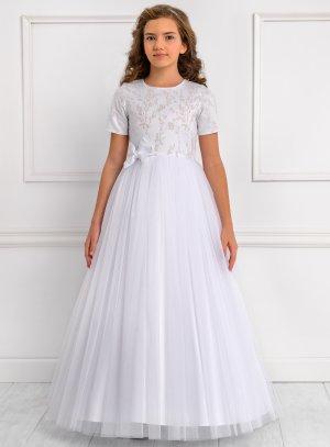 Robe cérémonie enfant Carolina mariage baptême communion blanche