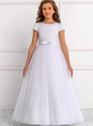 Robe de cérémonie fille collection Luxe modèle Suzie blanche