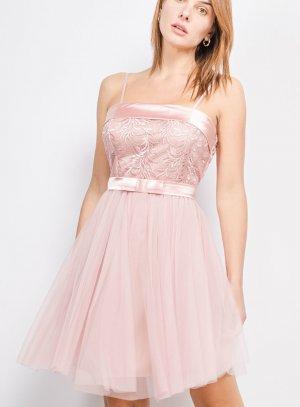 Robe cérémonie mariage femme style ballerine rose