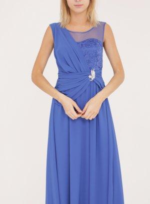 robe mariage femme longue bleu royal
