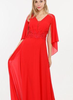 Robe cérémonie mariage femme, demoiselle d'honneur rouge