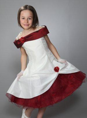 robe cérémonie fille bordeaux