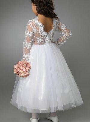 robe mariage enfant dentelle dos blanche
