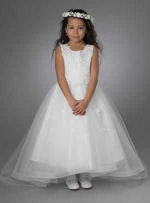 Robe mariage fille avec traine mini mariée princesse