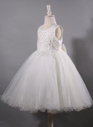 robe mariage enfant ivoire