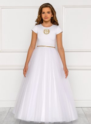 Robe communion ou baptême fille collection Luxe modèle Monique