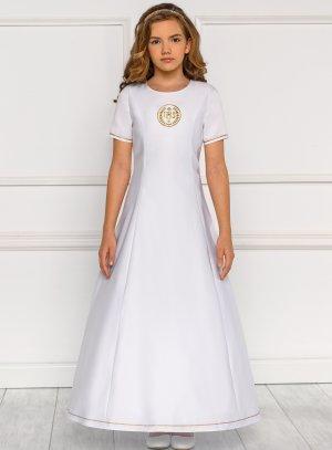 robe aube communion blanc