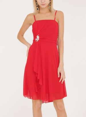 Robe courte femme jeune fille adolescente rouge