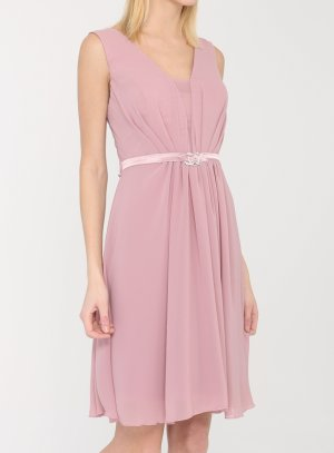 robe mariage femme vieux rose coupe courte