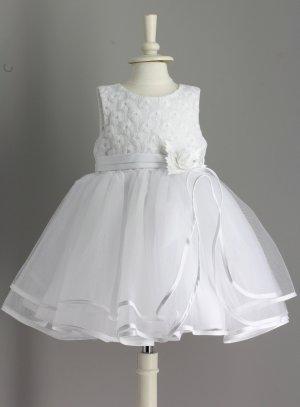 robe de baptême bébé fille blanche princesse Maeva