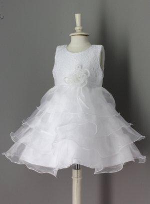 76de16486da FIN DE STOCK - Robe baptême bébé blanche ou ivoire princesse pas cher