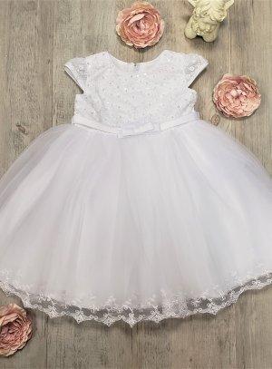 Robe de baptême bébé blanche style princesse