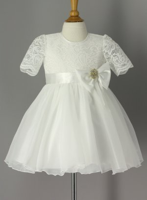 robe de baptême ivoire - ecru