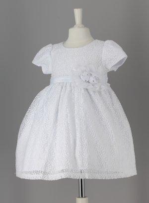 robe de baptême pas chère blanche bébé fille
