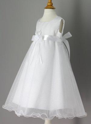 robe de baptême longue paillette blanche pour bébé