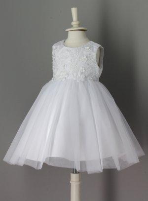 robe de baptême princesse maddi bébé fille blanche