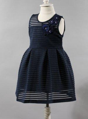 robe bleu marine enfant pour mariage pas cher